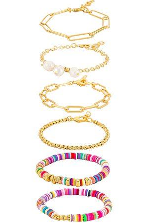 Amber Sceats Embellished Layered Bracelet in Metallic .