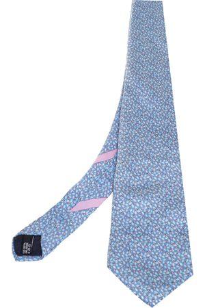 Salvatore Ferragamo Pale Ladybug Print Silk Tie