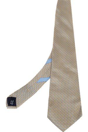 Salvatore Ferragamo Anchor Print Silk Tie