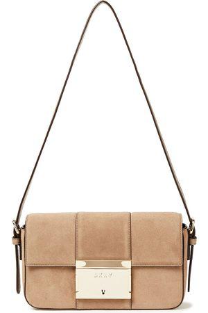 DKNY Woman Adam Suede Shoulder Bag Sand Size