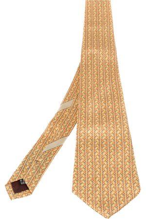 Salvatore Ferragamo Golfer Print Silk Tie