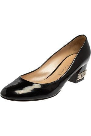 Casadei Women Heeled Pumps - Patent Leather Block Heel Pumps Size 39