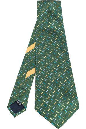 Salvatore Ferragamo Men Neckties - Eyeglass Print Silk Tie