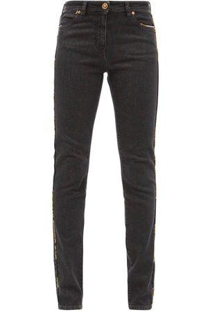 VERSACE Renaissance-piped Slim-leg Jeans - Womens