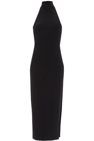 Norma Kamali Turtle Side-slit Jersey Dress - Womens