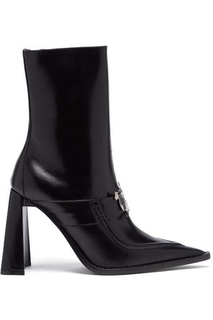 Thebe Magugu Sunday Best Logo-plaque Leather Ankle Boots - Womens