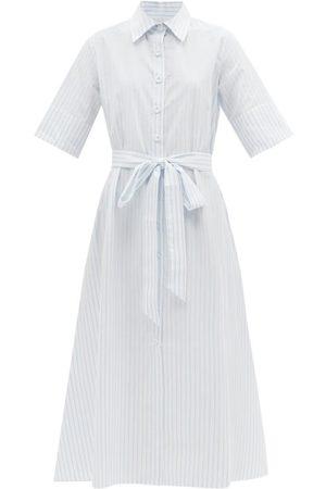 Evi Grintela Belted Striped Cotton Shirt Dress - Womens