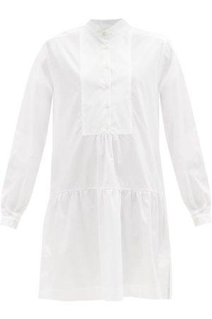 Evi Grintela Bib-front Cotton-poplin Shirt Dress - Womens