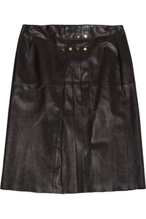 Paule Ka Leather mid-length skirt