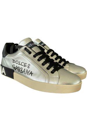 Dolce & Gabbana Portofino leather low trainers