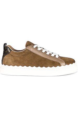 Chloé Women Sneakers - Lauren Patchwork Sneakers in Brown