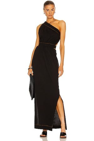 BASSIKE Gathered Cut Out Dress in