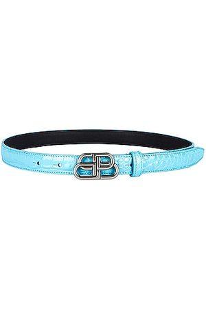 Balenciaga BB Extra Thin Belt in Blue