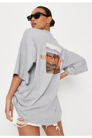 Missguided Tall Graphic Back Drop Shoulder T Shirt
