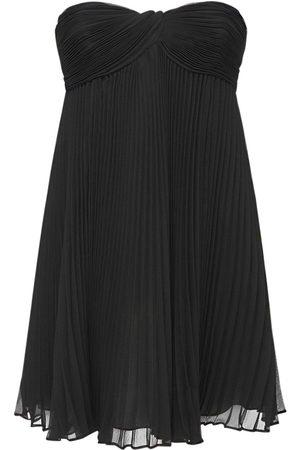 Saint Laurent Silk Crepe Mini Dress