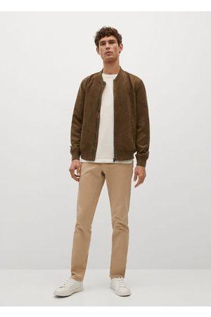MANGO Faux-suede bomber jacket