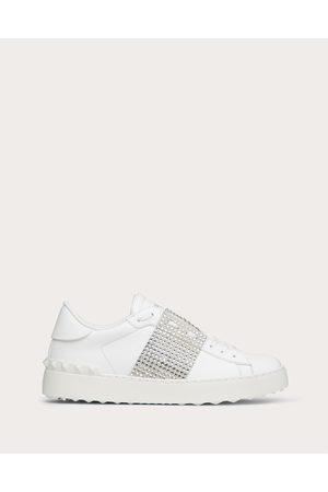 VALENTINO GARAVANI Open Sneaker With Crystals Women /ice 100% Pelle Di Vitello - Bos Taurus 35