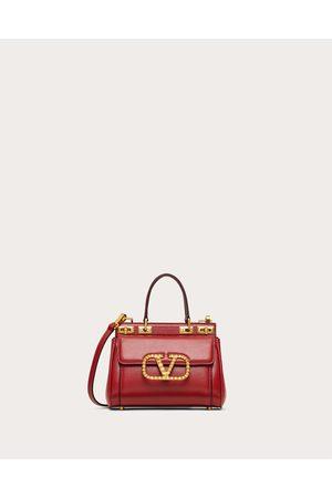 VALENTINO GARAVANI Women Purses - Small Alcove Handbag In Grainy Calfskin Women Rouge Pur 100% Pelle Di Vitello - Bos Taurus OneSize