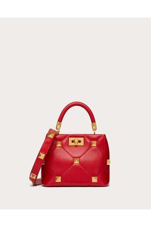 VALENTINO GARAVANI Women Shoulder Bags - Small Roman Stud The Handle Bag In Nappa Women Rouge Pur 100% Lambskin OneSize