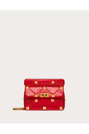 VALENTINO GARAVANI Women Shoulder Bags - Medium Nappa Roman Stud The Shoulder Bag With Chain Women Rouge Pur 100% Lambskin OneSize