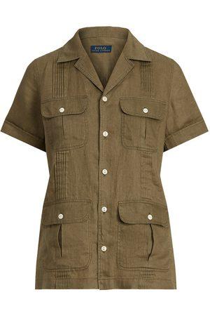 Polo Ralph Lauren Women Shirts - Pintucked Linen Shirt
