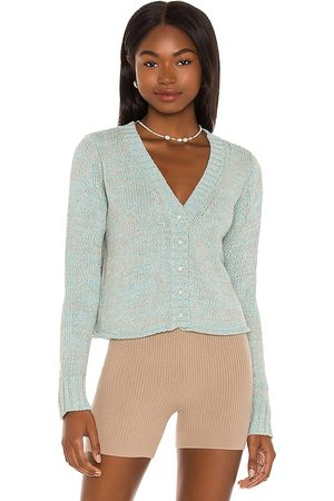 Dannijo Cropped Cardigan With Pearl Buttons in Baby .