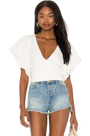 Free People Can't Get Enough Wrap Top in Ivory.