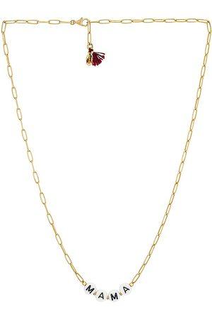 Shashi Dear Mama Necklace in Metallic .