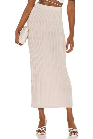 L'Academie Women Skirts - Roe Skirt in Taupe.