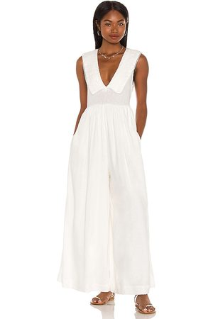 Free People Women Jumpsuits - Big Love Jumpsuit in Ivory.