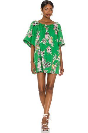 Free People Women Printed Dresses - Jodie Printed Tunic in Green.