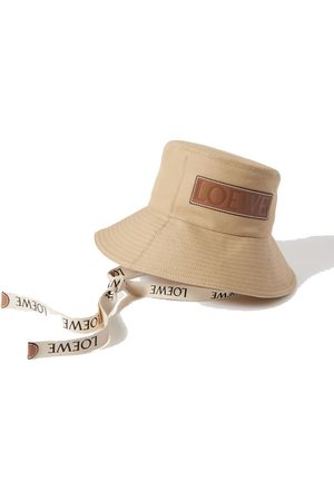 Loewe Paula's Ibiza leather-trimmed cotton-canvas bucket hat