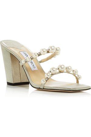 Jimmy Choo Women's Amara 85 Embellished Block Heel Sandals