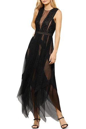 BCBG Max Azria Andi Lace Trim Evening Dress