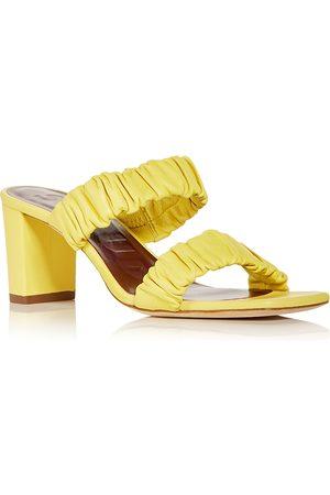 Staud Women's Frankie Ruched High Block Heel Slide Sandals