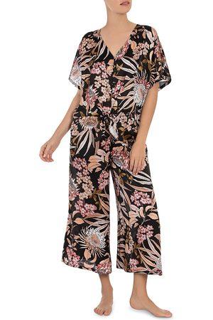 Midnight Bakery Tropical Print Pajama Set