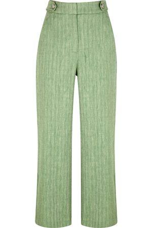 VERONICA BEARD Isley wide-leg linen-blend trousers