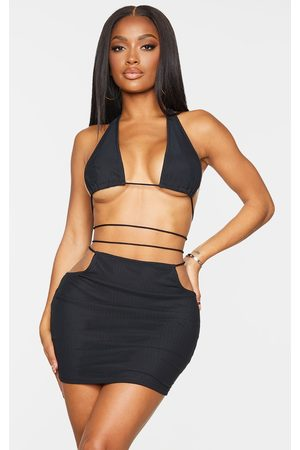 PrettyLittleThing Shape Mesh Cut Out Rope Detail Bodycon Dress