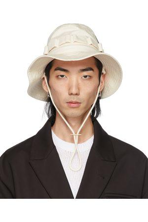 Jil Sander Men Hats - Beige Herringbone Hat
