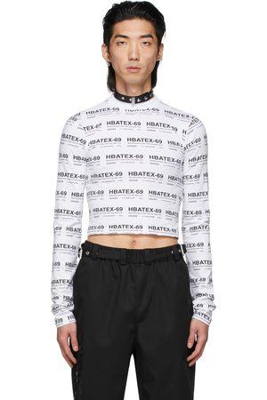 Hood By Air All Over Print Crop Long Sleeve T-Shirt