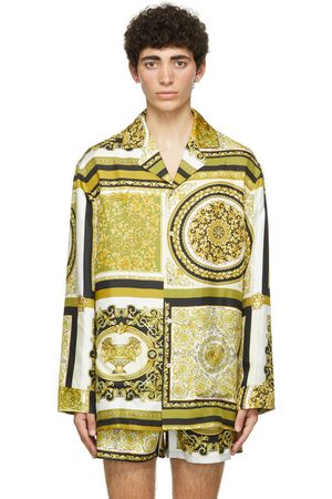 VERSACE Black & Gold Amplified Medusa Pyjama Shirt