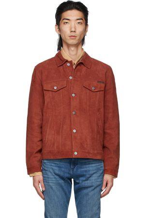 Nudie Jeans Red Suede Robby Jacket