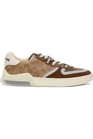 Coach Brown & Tan Citysole Signature Court Sneakers