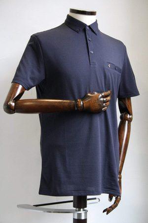 Gabicci Ladro Navy Button-Down Collar Polo Shirt