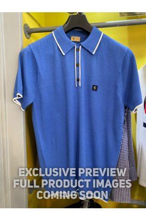Gabicci Lineker & White Trim Knitted Polo Shirt