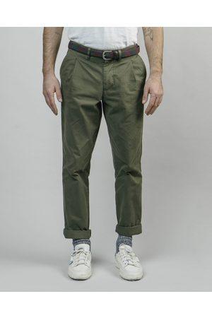 Brava Fabrics Pleated Chino Pants Olive