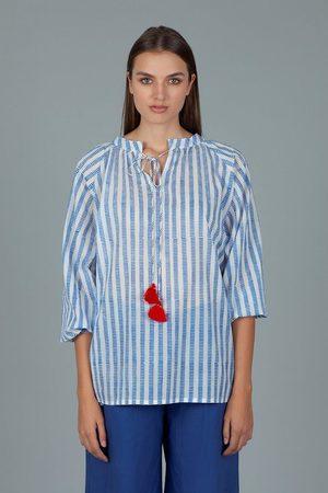 Dream AN266A BRISTOL Long Sleeve Stripe Top Blue &