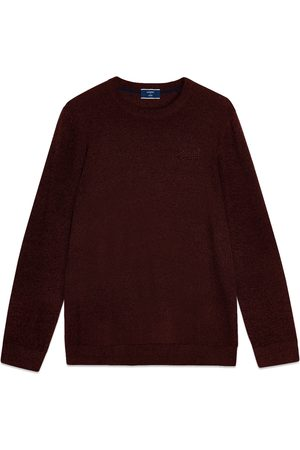 Superdry Label Crew Knit - Cranberry Marl