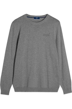 Superdry Orange Label Crew Knit - Jersey Grey Marl