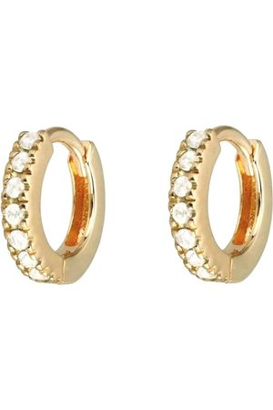 Fortune Jewellery London 18K Huggie Hoop Earring - White